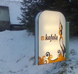 Kofola atypical lightbox neon